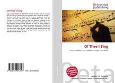 Couverture de Of Thee I Sing