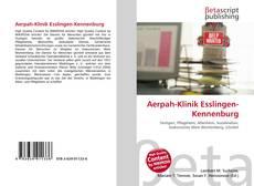 Portada del libro de Aerpah-Klinik Esslingen-Kennenburg