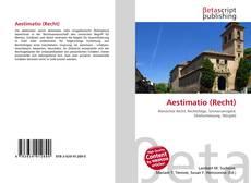 Borítókép a  Aestimatio (Recht) - hoz