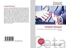 Bookcover of Yerbolat Dosayev