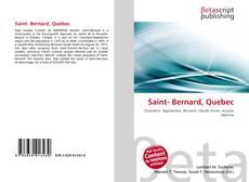 Buchcover von Saint- Bernard, Quebec