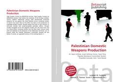 Couverture de Palestinian Domestic Weapons Production