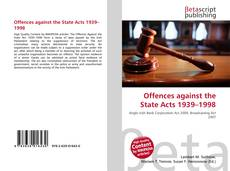 Couverture de Offences against the State Acts 1939–1998