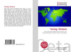 Bookcover of Yering, Victoria