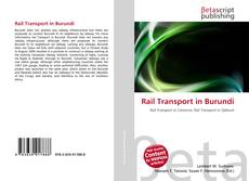 Bookcover of Rail Transport in Burundi