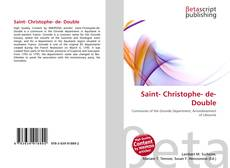 Bookcover of Saint- Christophe- de- Double