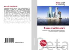 Capa do livro de Russian Nationalism