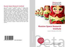 Couverture de Russian Space Research Institute