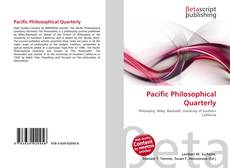 Bookcover of Pacific Philosophical Quarterly