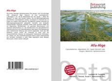 Обложка Afa-Alge