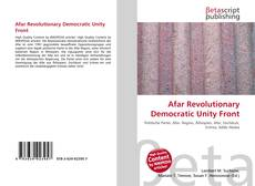 Afar Revolutionary Democratic Unity Front的封面