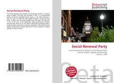 Bookcover of Social Renewal Party