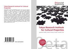 Buchcover von Tokyo Research Institute for Cultural Properties