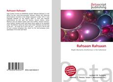 Buchcover von Rahsaan Rahsaan