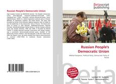 Bookcover of Russian People's Democratic Union