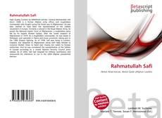 Rahmatullah Safi kitap kapağı