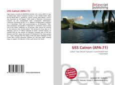 Buchcover von USS Catron (APA-71)