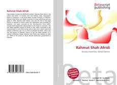 Bookcover of Rahmat Shah Afridi
