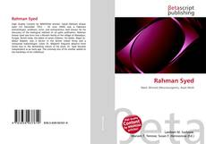Bookcover of Rahman Syed