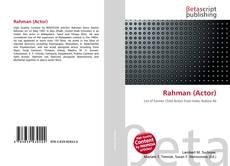 Buchcover von Rahman (Actor)