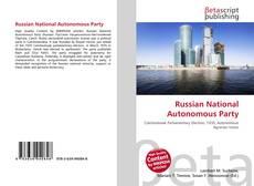 Copertina di Russian National Autonomous Party