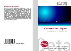 Couverture de Rahimtulla M. Sayani