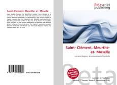 Couverture de Saint- Clément, Meurthe- et- Moselle
