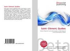 Saint- Clément, Quebec的封面