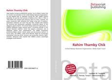 Bookcover of Rahim Thamby Chik