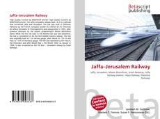 Buchcover von Jaffa–Jerusalem Railway