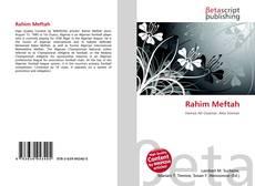 Couverture de Rahim Meftah
