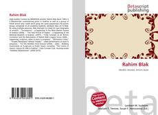 Bookcover of Rahim Blak