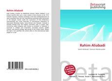Bookcover of Rahim Aliabadi