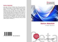 Rahim Abdullah的封面