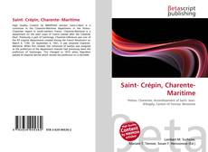 Bookcover of Saint- Crépin, Charente- Maritime
