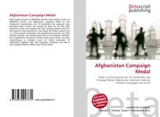 Afghanistan Campaign Medal kitap kapağı