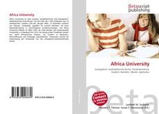 Couverture de Africa University