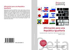 Portada del libro de Afirmación para una República Igualitaria