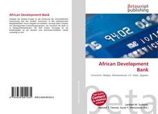 Bookcover of African Development Bank