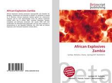 Capa do livro de African Explosives Zambia