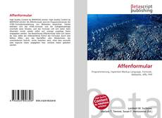 Bookcover of Affenformular