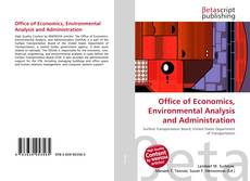 Bookcover of Office of Economics, Environmental Analysis and Administration