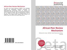 Обложка African Peer Review Mechanism