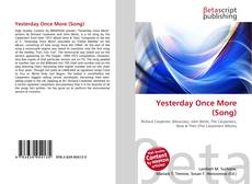 Capa do livro de Yesterday Once More (Song)