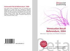 Portada del libro de Venezuelan Recall Referendum, 2004