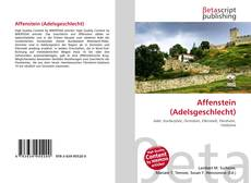 Bookcover of Affenstein (Adelsgeschlecht)