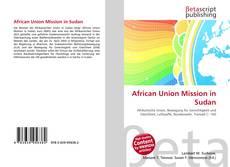 Buchcover von African Union Mission in Sudan