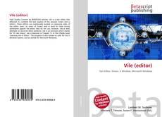 Vile (editor) kitap kapağı