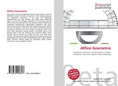 Bookcover of Affine Geometrie