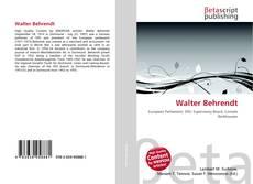Buchcover von Walter Behrendt